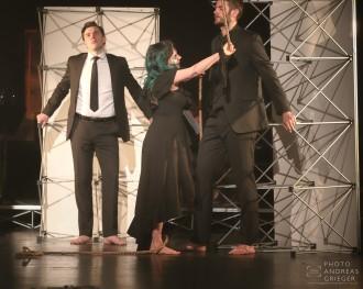 Margarete in Händeloper Acis and Galatea die Männer fesselnd